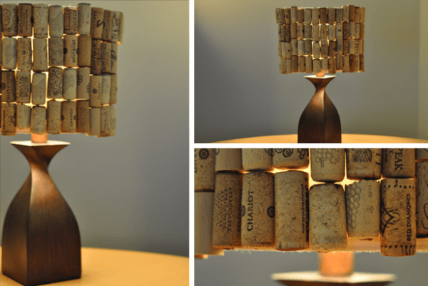 DIY Wine Cork Lampshade