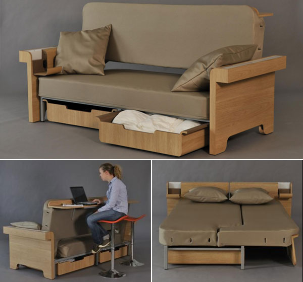 Sofa Converts Into Dining Table And Bed