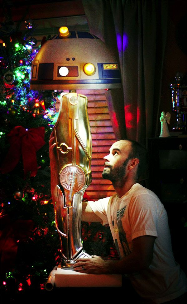 Leg lamp replicates C3PO's leg and R2D2's head