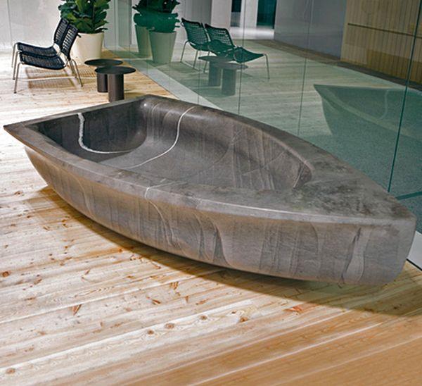 Antonio Lupi's stone bathtub