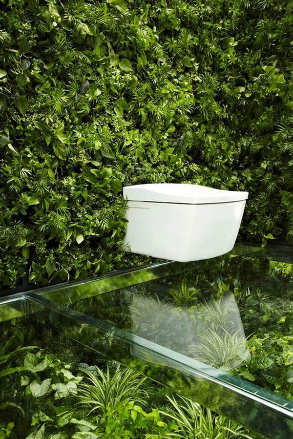 Japanese designers embark on a literally green bathroom
