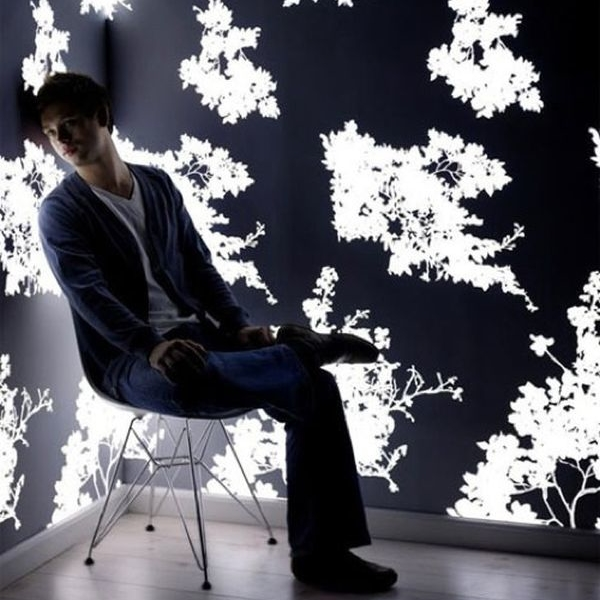 Light emitting wallpapers