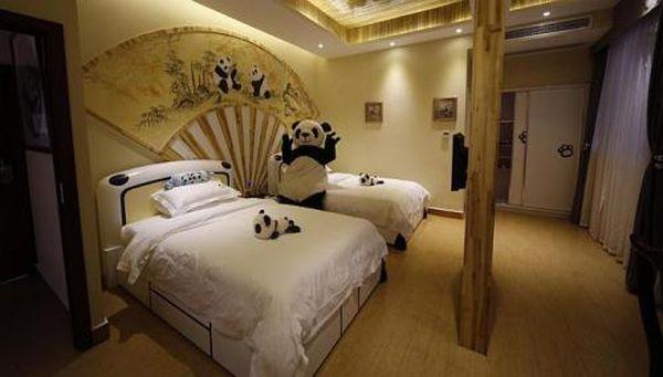 Panda themed hotel