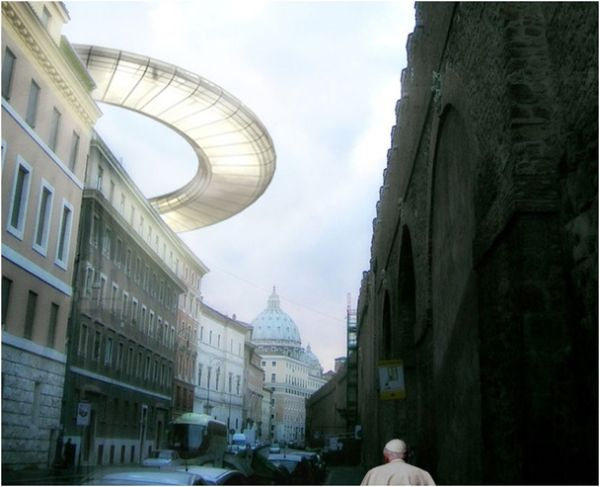 Pope's futuristic apartment