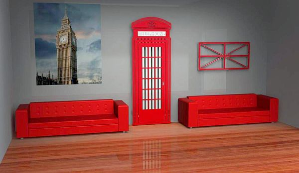 Room radiators replicate Red Telephone Box