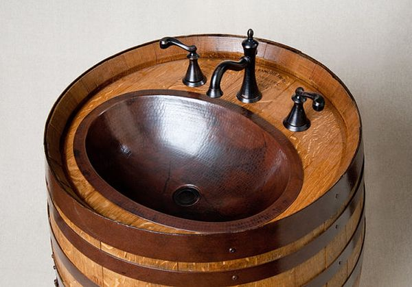 Wine Barrel Washbasin