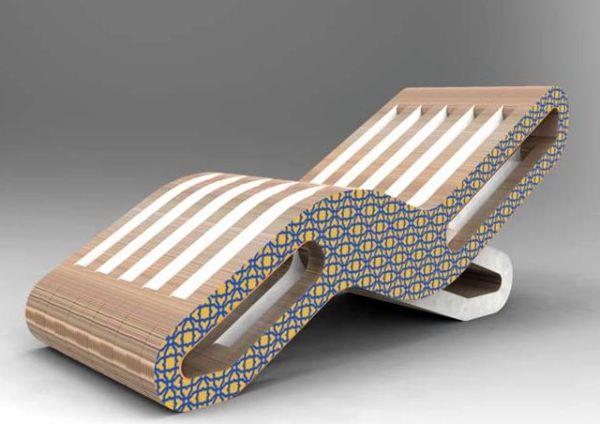 2Onde chaise lounge by Giorgio Caporaso