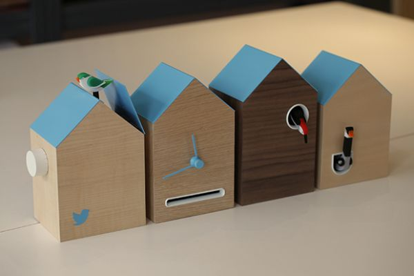 FLOCK twitter powered cuckoo clock