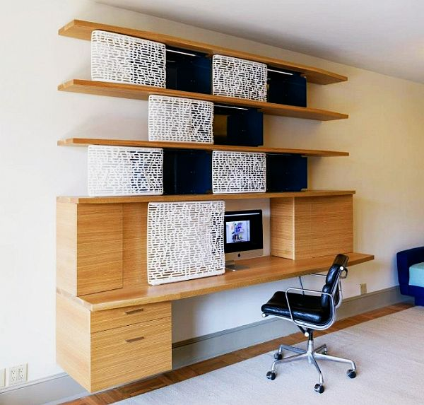 K-G home office desk with 3D printed doors by Normal Projects