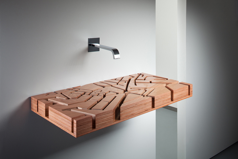 Kononenkoid WAter Map - Wooden Flat Sink