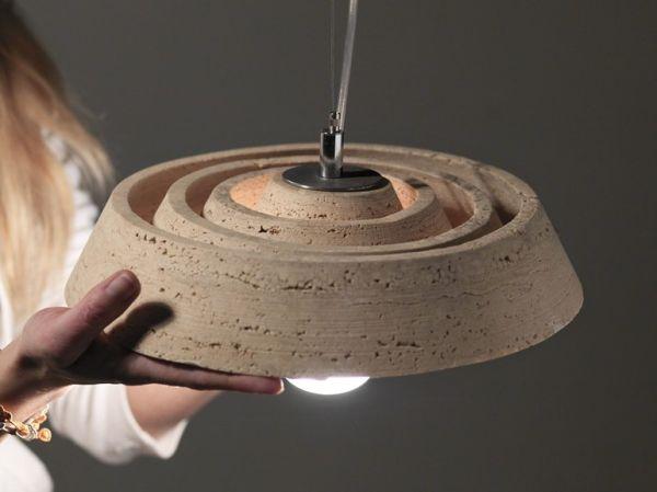 Spiralitosa pendant lamp by Serafini Marmo Luce