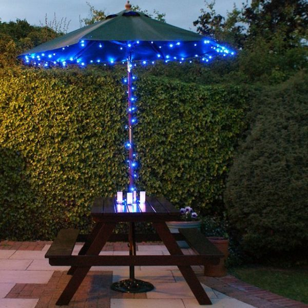 LED solar fairy string lights