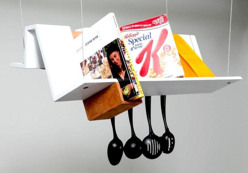 Shelf multifunctional kitchen storage unit by Raz Krulfeld