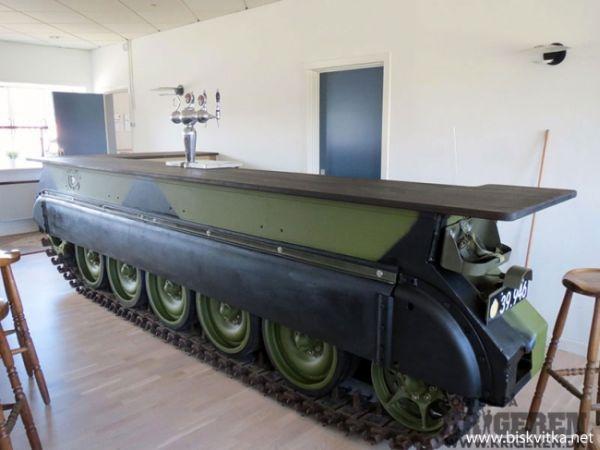 Bulgarian bar from Russian tank