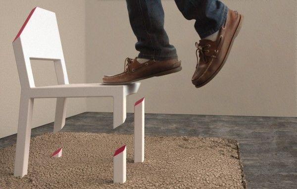 Cut Chair by Peter Bristol
