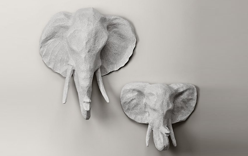 Haitian Artisans Paper Mache Animal Busts