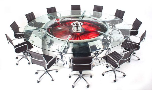 MotoArt's Boeing 747 conference table