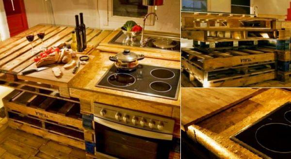 Paletina Kitchen made from reclaimed shipping pallets