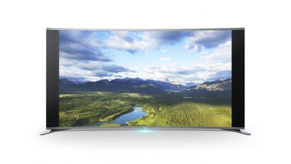 Sony's curved screen LED TV