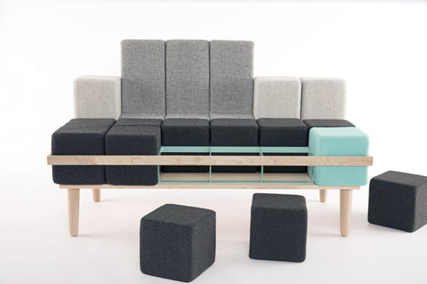 Block'd sofa by Scott Jones