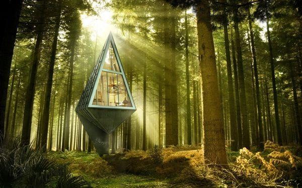 Single Pole House by Konrad Wojcik