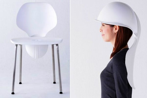 Mamoris chair doubles as a hard hat