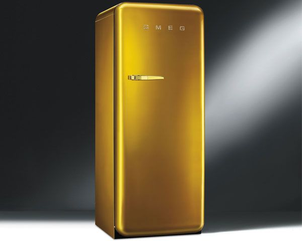 Smeg's Gold Retro fridge