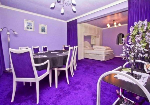 Uxbridge Road house with purple interior for sale
