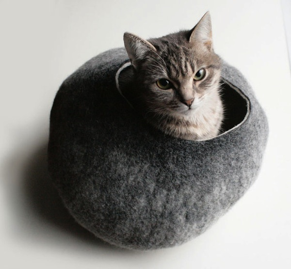 Custom felted Cat Bed