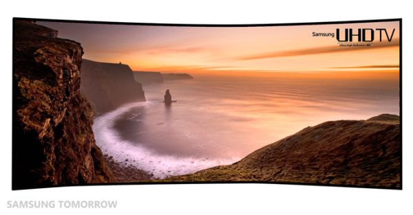 105 inch curved UHD TV from samsung