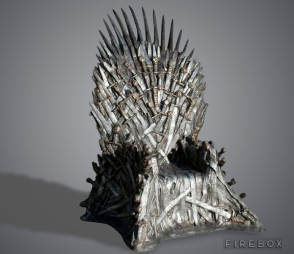 life-size replica iron throne