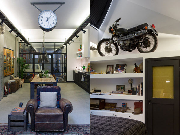 Garage transformed into home