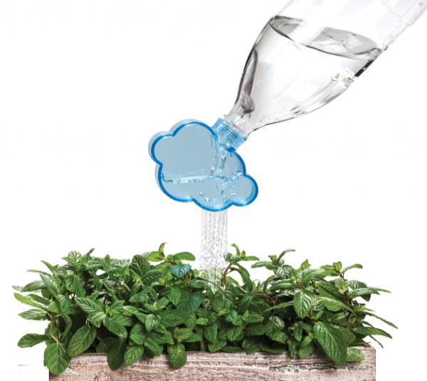 Rainmaker plastic bottle plant waterer