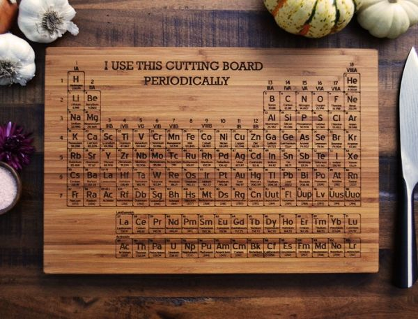 Periodic Table scientific cutting board