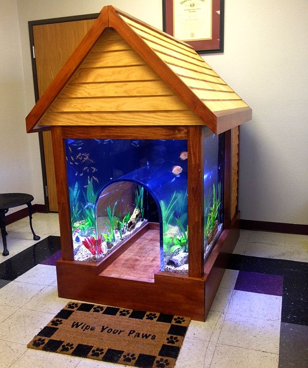DIY Fish tank doghouse - A dream home for your furry friend