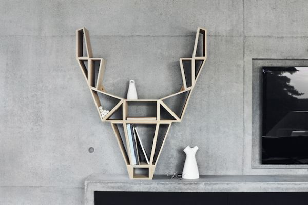 Deer Head Bookshelf by beDesign
