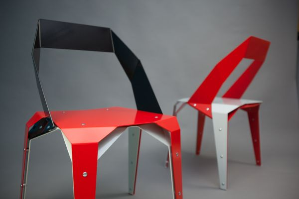 Origami chair by Jan Brouwer & Chris Karthaus