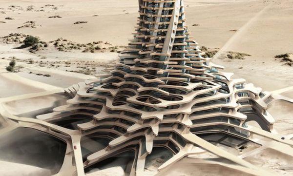 Desert skyscraper