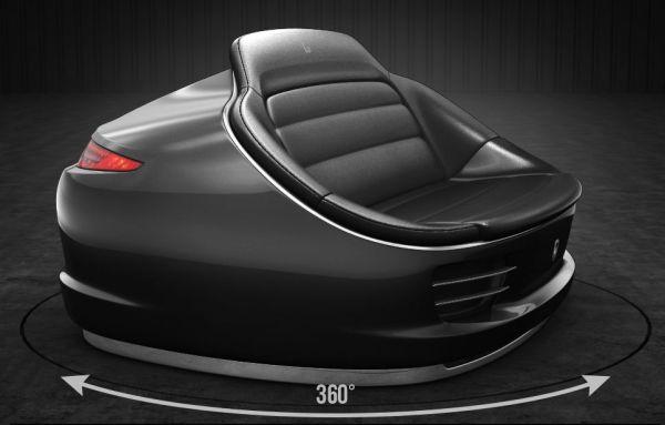 9Eleven sofa made from genuine Porsche 911 parts-1