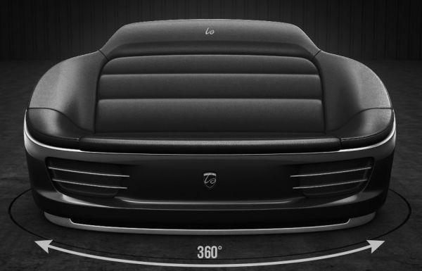 9Eleven sofa made from genuine Porsche 911 parts