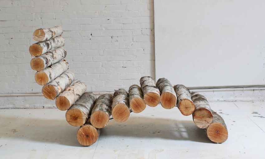 DIY Log Lounger