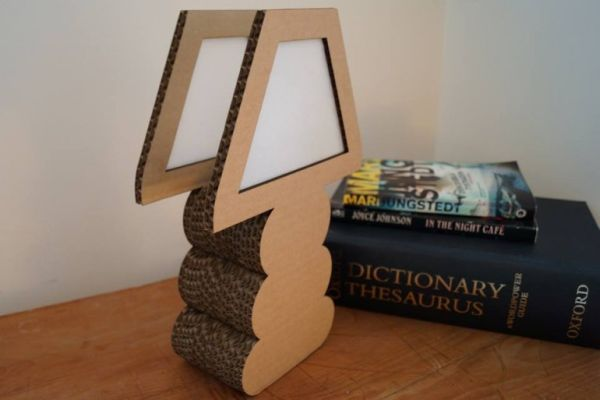 Cardboard Lamps by Green Spirit Creations