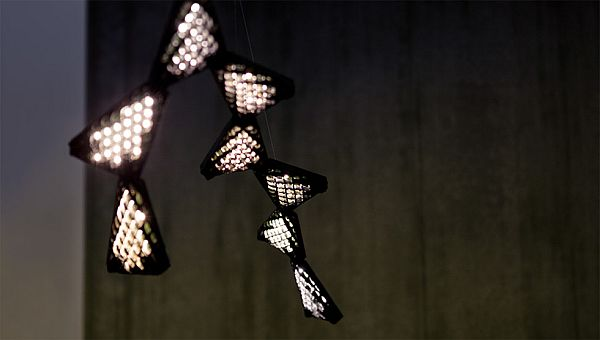 Smartphone-controlled Dragon Chandelier