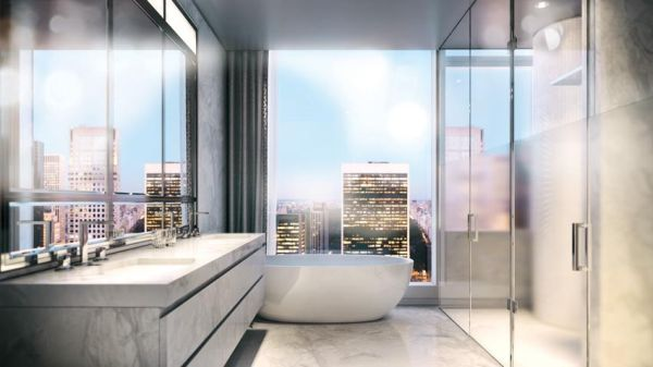Duplex penthouse on top of Baccarat Hotel & Residences NYC