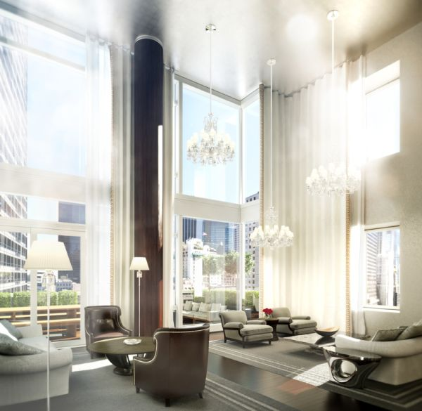 Duplex penthouse on top of Baccarat Hotel & Residences