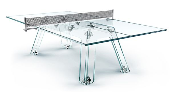 Glass ping pong table by Adriano Design