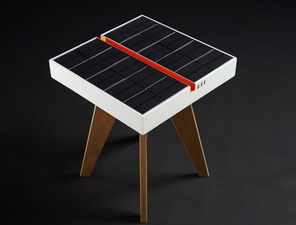 Lucio Solar powered table by Studio Natural
