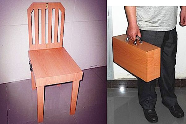 Suitcase chair by Chinese magician