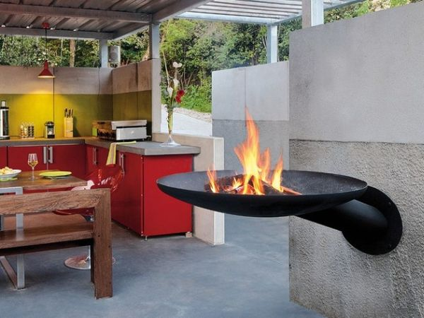sunfocus outdoor fireplace