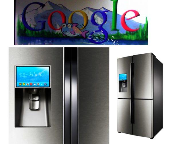 Google Ads on Refrigerator